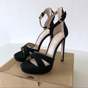 Zara Suede High Heel Platform Sandals